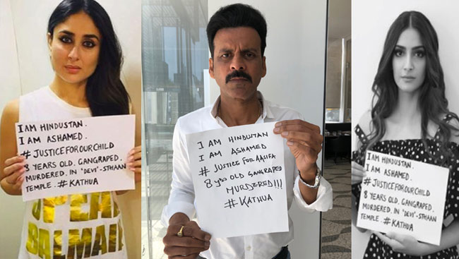 #JusticeForOurChild: Bollywood Enraged Over Kathua Rape
