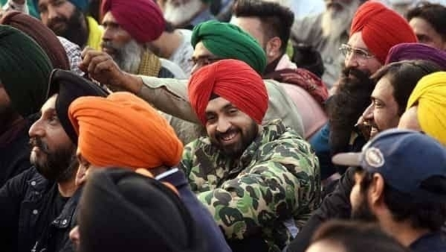 Punjabi singer actor Diljit Dosanjh joins farmers protest