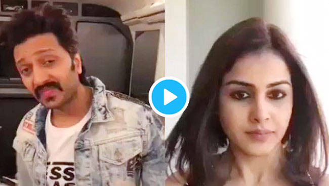 Riteish Deshmukh And Genelia D'souza Acting Out Shah Rukh Khan And Kajol Scene Are Just Adorable