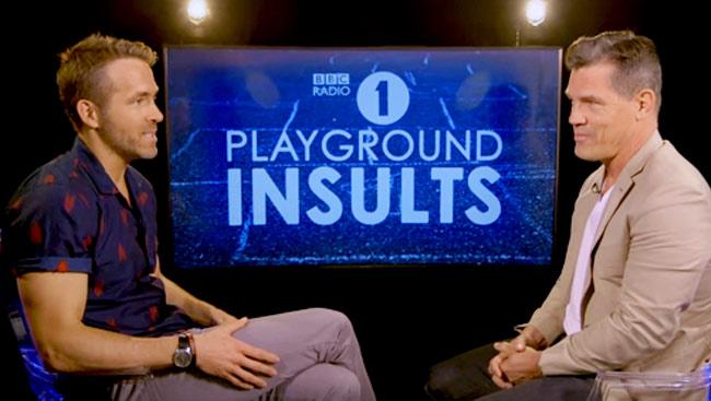 WATCH: Ryan Reynolds and Josh Brolin Insult Each Other