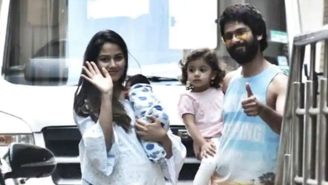 PIC: Shahid Kapoor, Mira And Misha Take Baby Zain Home, Feel Complete With His Arrival
