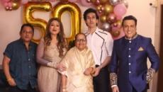Govinda celebrates wife Sunita's 50th birthday with kids, family