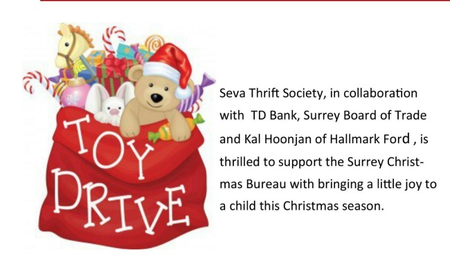 Toy Drive by Seva Thrift Store