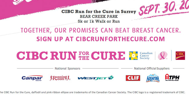 Surrey Canadian Cancer Society CIBC Run for the Cure