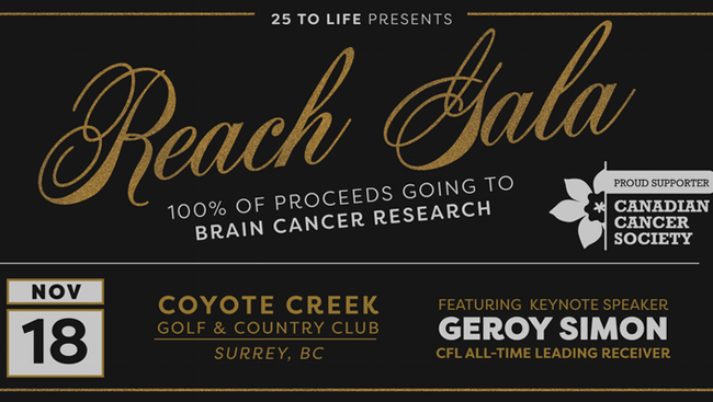 Reach Gala to raise funds for the Canadian Cancer Society