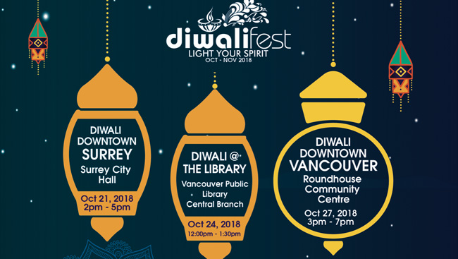 Diwali Fest takes place in October