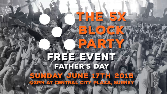 Free 5X Block Party