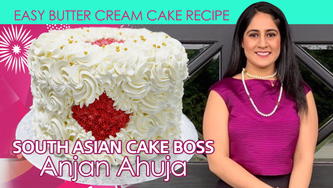 South-Asian Cake Boss Anjan Ahuja - Special Canada Day Easy ButterCream Cake