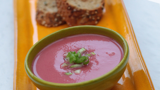 Beetroot Soup by Chef Manju Malhi