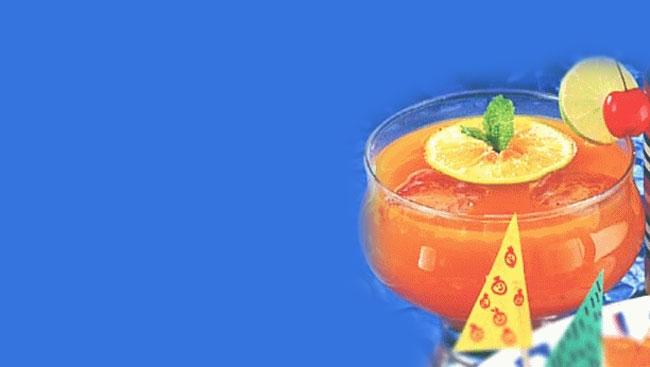 Tarla Dalal's Fruity Iced Tea