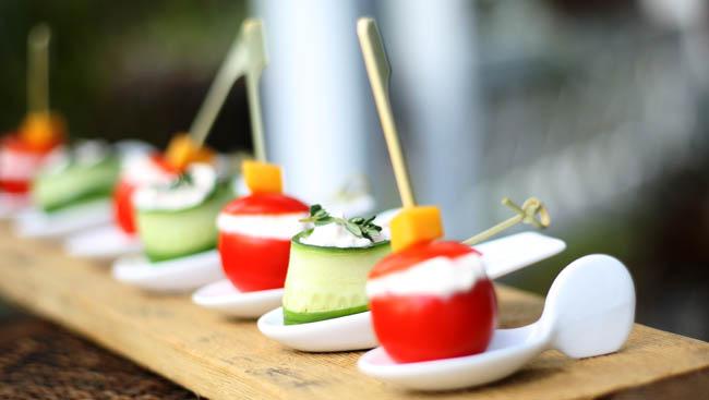 Small Heirloom Tomatoes & Cucumbers Stuffed Creamy Masala Malai Paneer