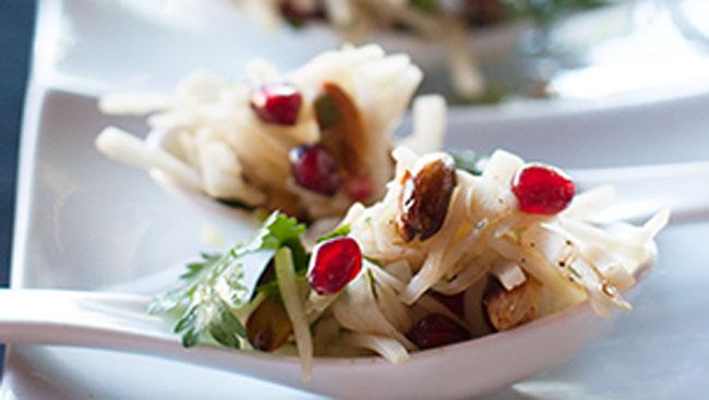 'Chef Abhishek Roy's 'P3 Salad – Papaya, Pomegranate and Peanut'