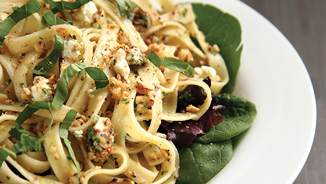 Pasta Salad with Walnuts & Blue Cheese