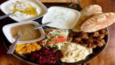 Cold mezze brunch with Falafel