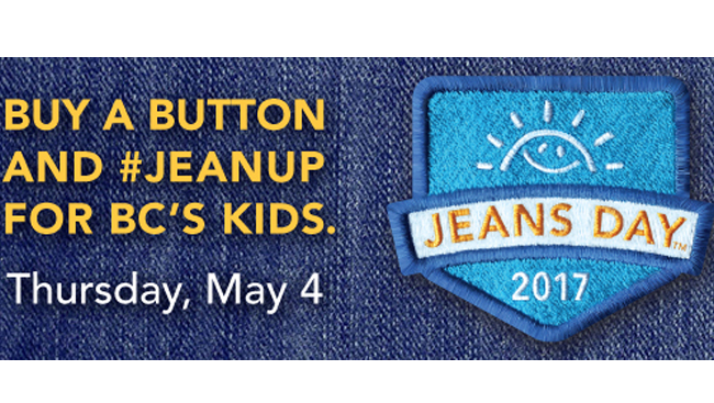 Purchase Jeans Day Buttons In Support of BC Children's Hospital Foundation