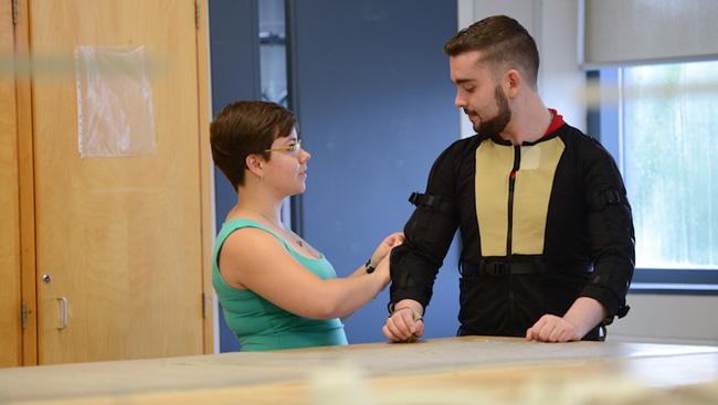A motion capture suit, arm sleeve for Parkinson's patients