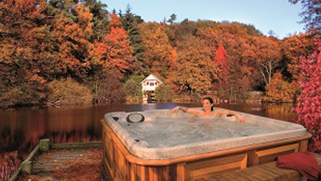 Fall is the season to take the plunge on a hot tub