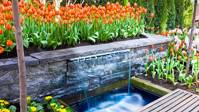 Garden Water Fixtures Can Be As Attractive In Winter As They Are In Summer