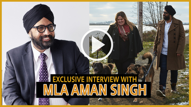 WATCH: BC NDP MLA elect Aman Singh has made history as the first turbaned Sikh in the BC Legislature.