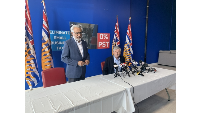 BC Liberal Leader Andrew Wilkinson made a stop in Surrey today as part of his campaign trail to get his last home stretch pitch out to voters