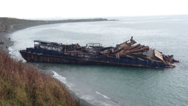Barge Runs Aground Off B.C. Coast But No Injuries Or Sign Of Pollution