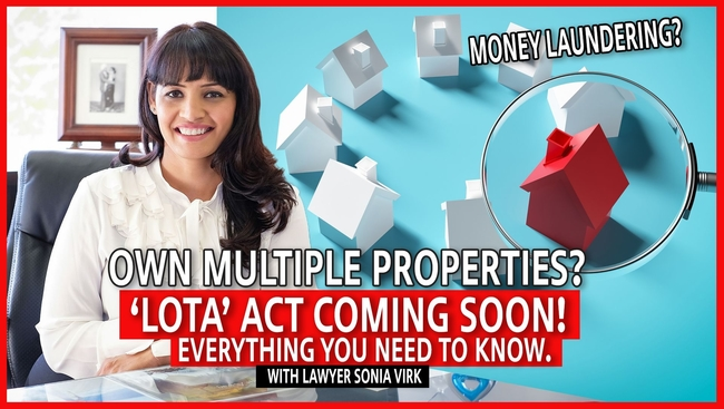 WATCH: Lawyer Sonia Virk shares information on a new act coming in that affects properties
