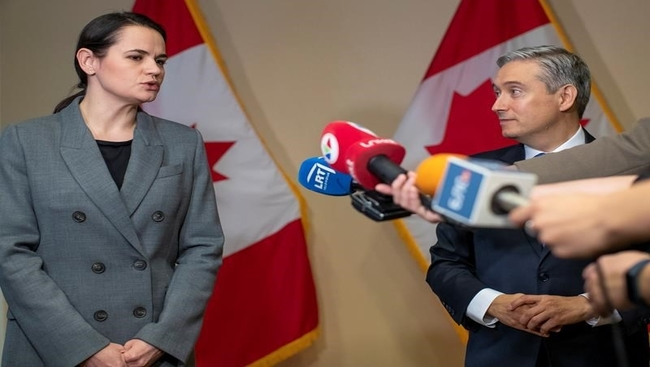 Belarus opposition leader thanks Canada: minister