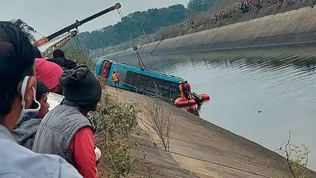 48 people dead after a bus crashes into a canal in Madhya Pradesh