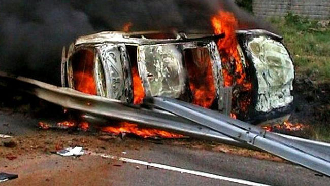 20-Year-Old Has Narrow Escape After Car Catches Fire In Delhi