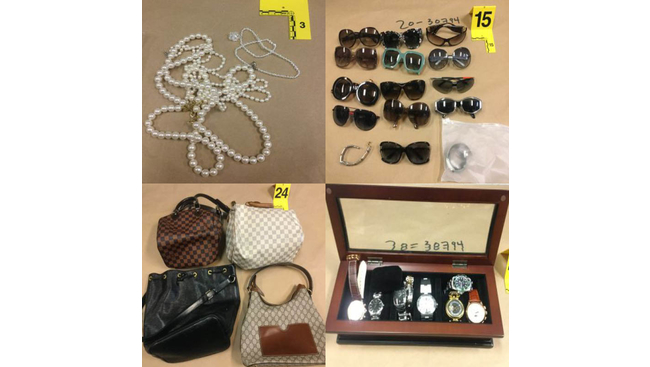 Series of break and enters results in jewellery, handbags, electronics being recovered