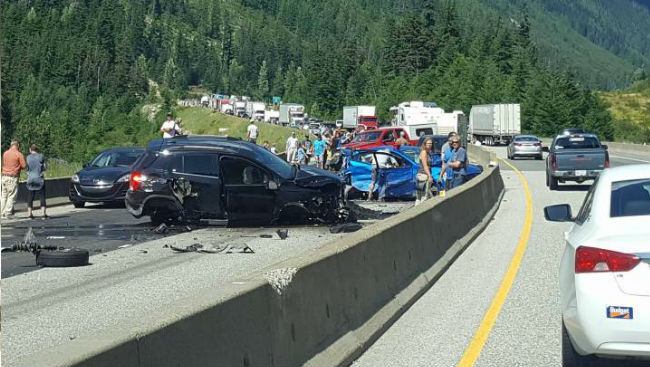 One Person Dead, Others Injured After Multi-Vehicle Crash On Coquihalla Highway