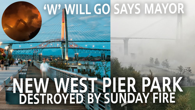 WATCH: NEW WEST PIER PARK BURNS IN MYSTERIOUS FIRE | NO VACCINE BEFORE 2024