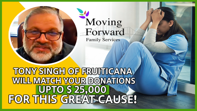 Fruiticana partners with Moving Forward Family Services and puts its philanthropic efforts to champion the cause of mental health during COVID19