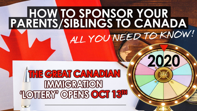 WATCH: Sponsoring your family - Canadian Immigration 'Lottery' Opens October 13