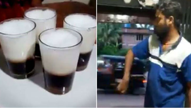 This Kerala Man's Tea Serving Trick Is Leaving People Awestruck, Netizens Call Him 'Rajinikanth'
