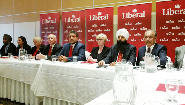 Liberal Party Of Canada Candidates Speak About Justin Trudeau's Infrastructure Plan