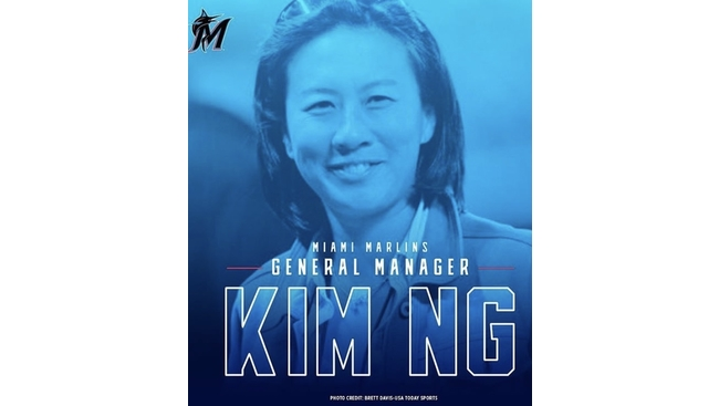 Kim Ng makes MLB history as the first female General Manager of the Miami Marlins