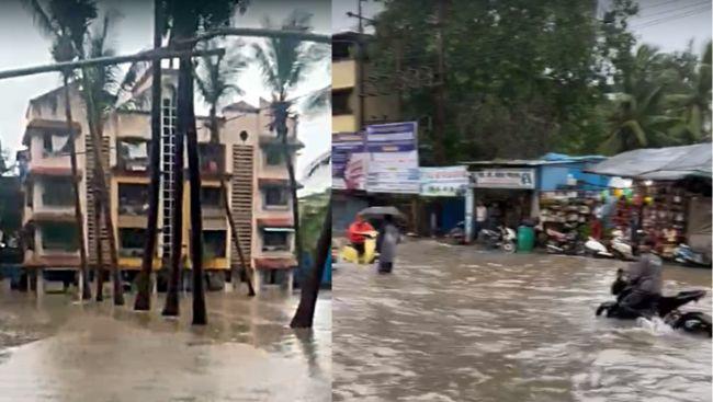 Heavy rains pound Mumbai, local trains hit