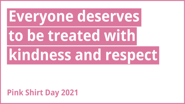 Premier John Horgan sends out message of treating others with respect on Pink Shirt Day