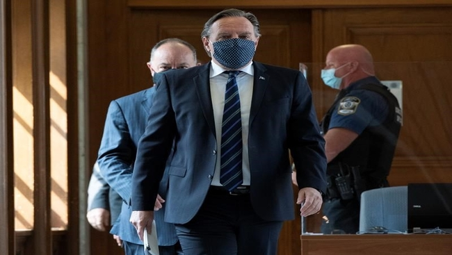 Man charged with threatening Quebec premier