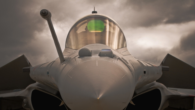 First five Rafale fighter aircrafts take off for India