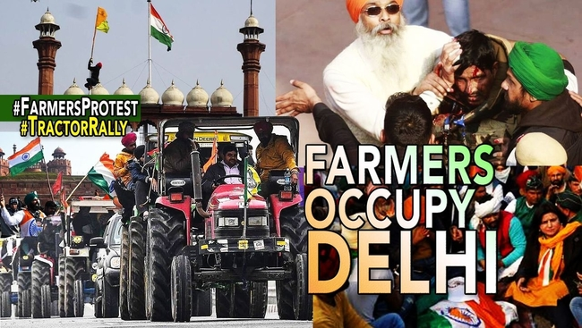 WATCH: Farmers Tractor Rally Takes a Violent Turn on Republic Day