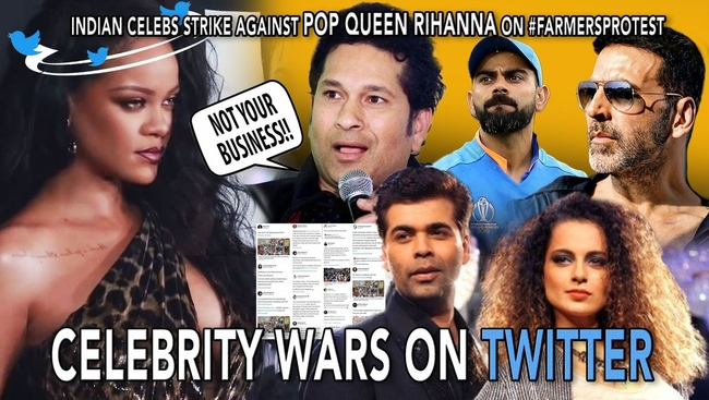 WATCH: Indian Celebs Gang up Against Rihanna's Tweet on Farmers Protest