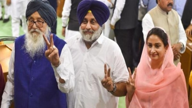 Shiromani Akali Dal breaks alliance with BJP led National Democratic Alliance