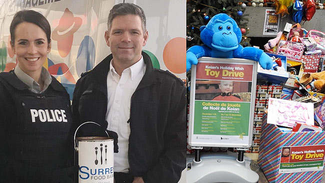 Help 'Pack The Police Car' For Surrey Food Banks