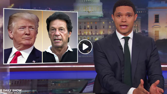 VIDEO: Trevor Noah Calls Imran Khan Brown Donald Trump, Some Pakistani Are Miffed