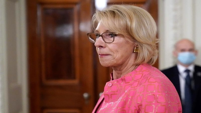 Trump, DeVos raise school choice in appeal to vexed parents