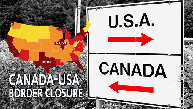 Canada-US Border May Open Next Month, CoronaVirus Continues its Rampage in the USA