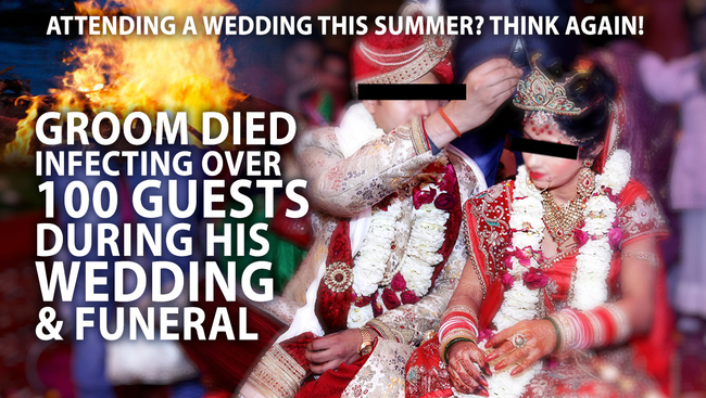Indian Groom Died 2 days after Wedding infecting 100 Guests and no treatment