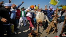 Indian farmers blocking major expressway on Saturday to mark 100 days of the protest